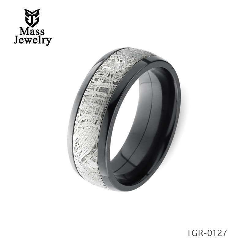 High Quality And Pretty Price Cemented Carbide Rings,Tungsten Carbide Meteorolite Ring
