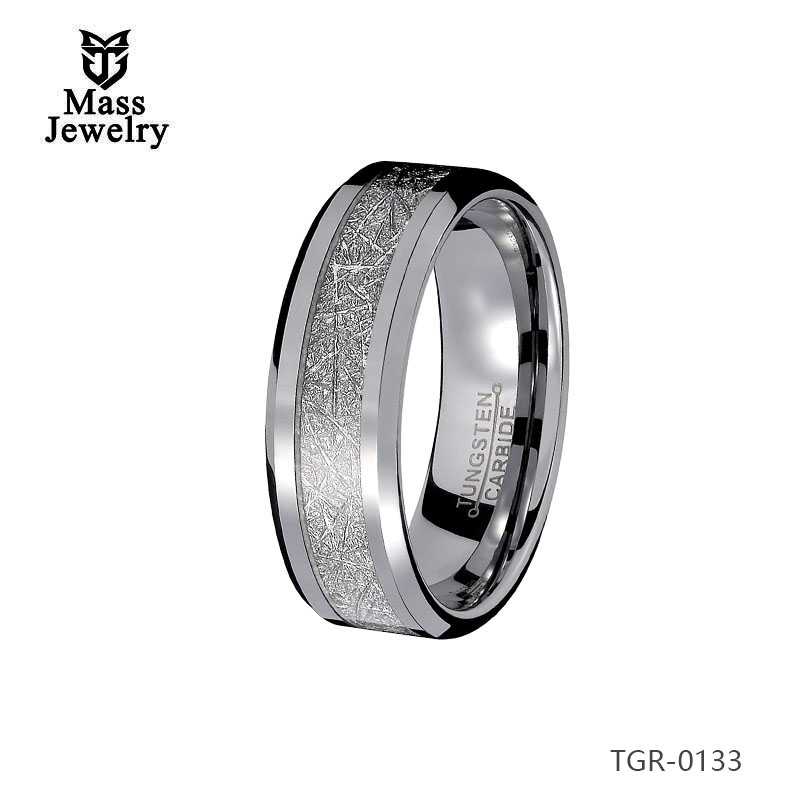 Wholesale Tungsten Diamond Ring, Men'S Tungsten Wedding Bands Imitation Meteorolite