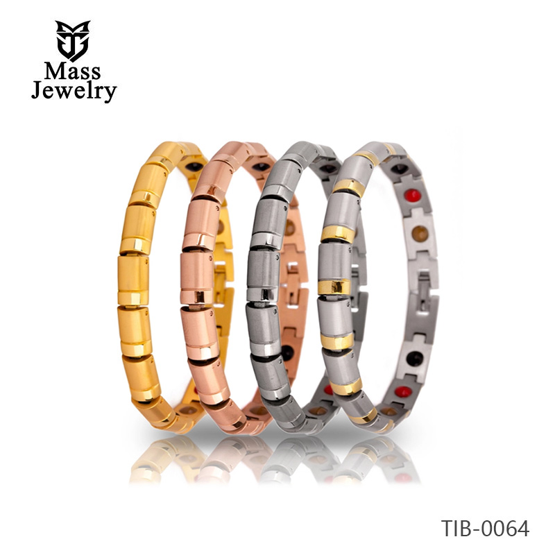 Japan fashion health care titanium steel magnetic bracel