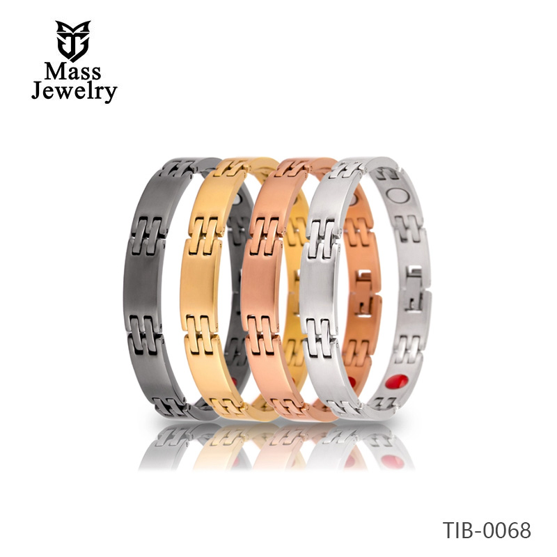 Women rose gold jewelry health titanium magnetic therapy bracelet