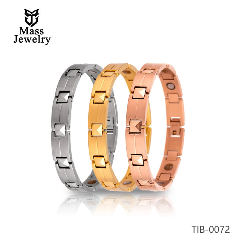 Fashion jewelry bio magnetic health titanium steel bracelet