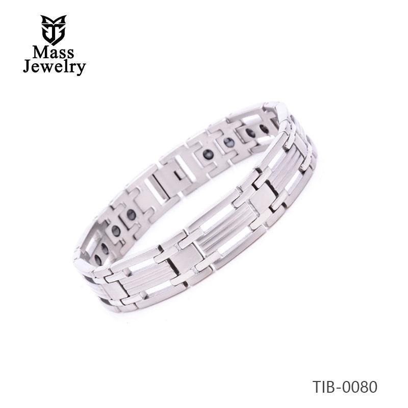 Health energy magnetic bio healing stainless steel bracelet