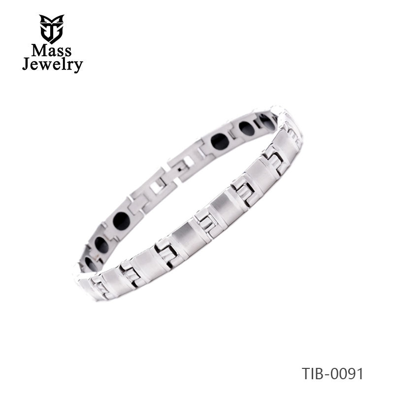 316L stainless steel magnet health jewelry bracelet for men