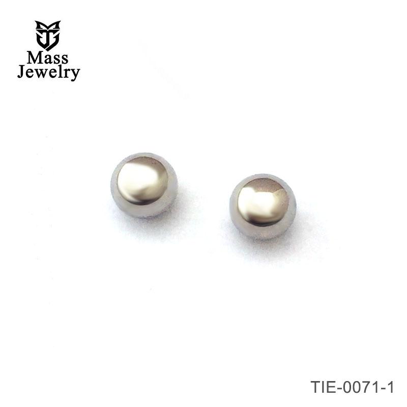 Pure titanium ball post stud earrings for sensitive ears in multiple colors