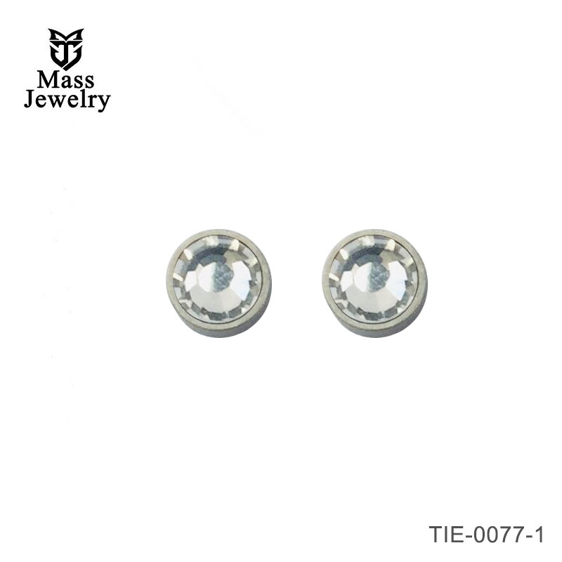 Titanium earrings studs. square or circle simple/modern design, hypoallergenic