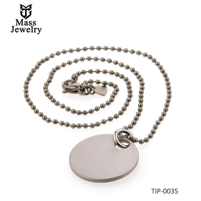 Circular Titanium Pendant & Titanium Chain