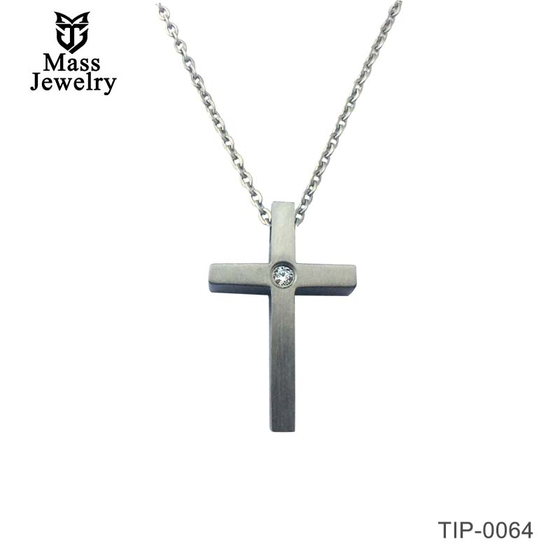 Simple Cross Prayer Design Hypoallergenic Pure Titanium Pendant For Women Bless Friend Gift Jewelry