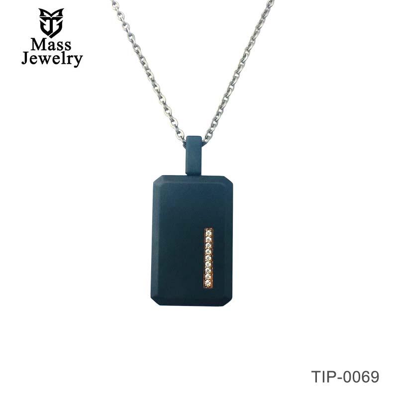 New Men's Black Titanium  Pendant Necklace For Gift