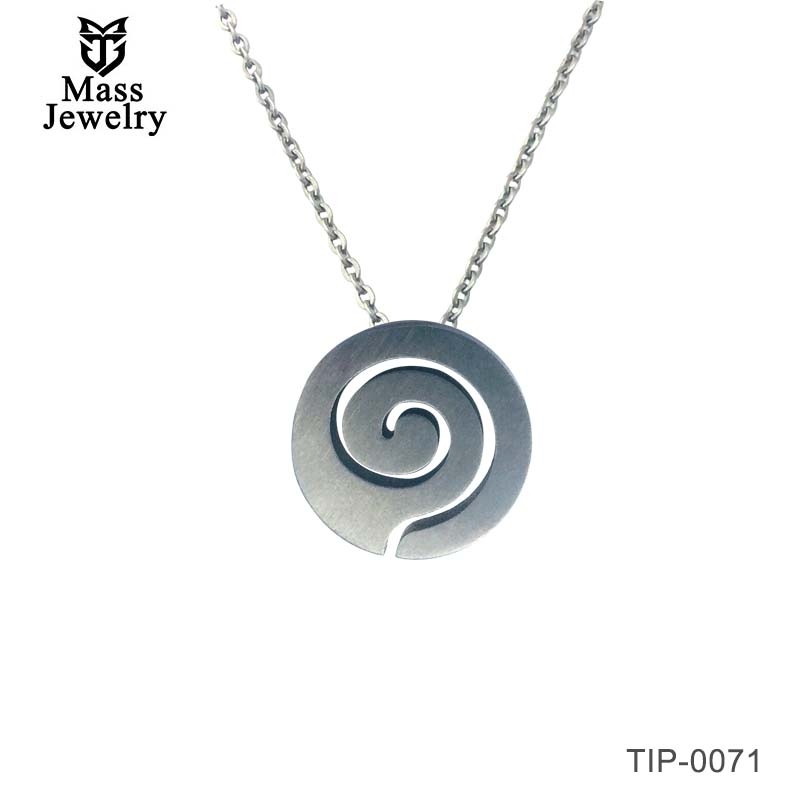 Womens Titanium Necklace Pendants Simple Design