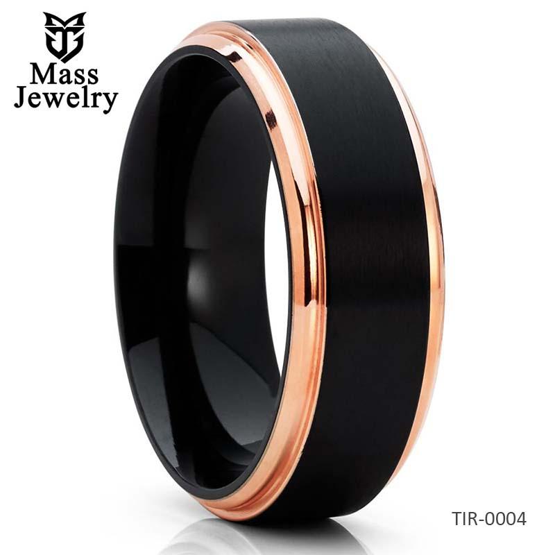 Black Titanium Ring Titanium Wedding Band Men's Wedding Band Black Ring