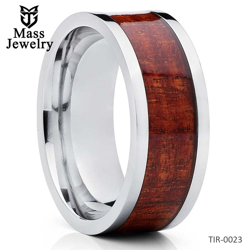 Titanium Wedding Ring Koa Wood Koa Titanium Ring 8mm