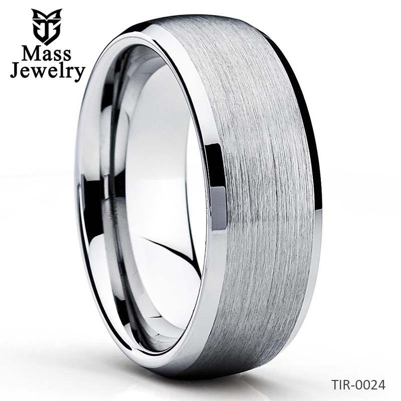 Titanium Wedding Band Titanium Wedding Ring Brush Titanium Ring