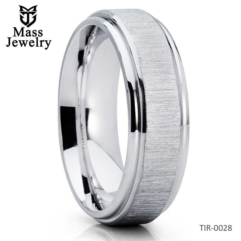 Titanium Wedding Band White Titanium Titanium Wedding Ring 7mm