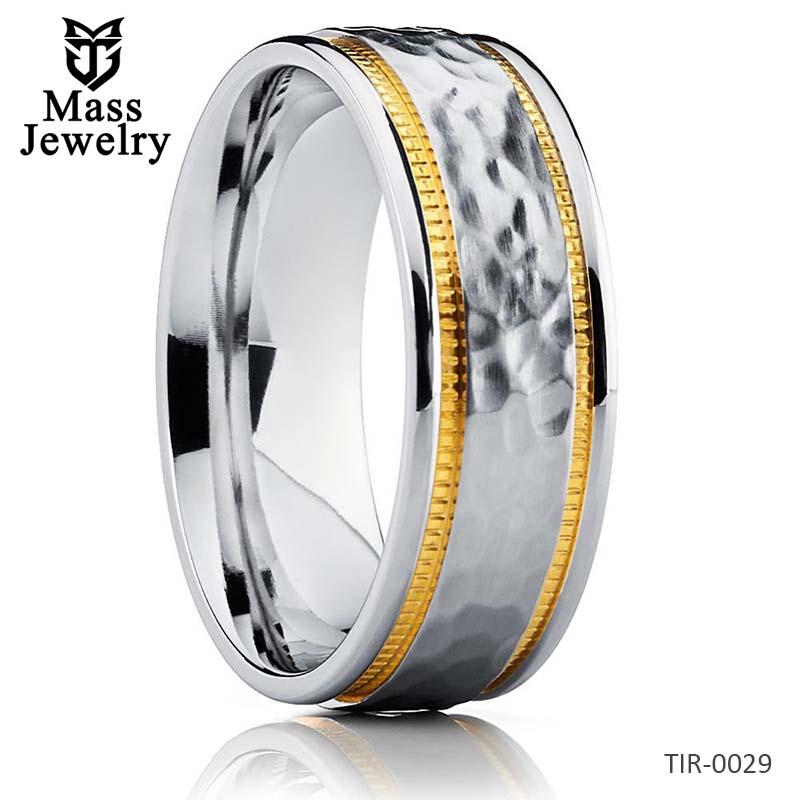 Titanium Wedding Band Hammered Ring Men's Titanium Ring Unique Ring