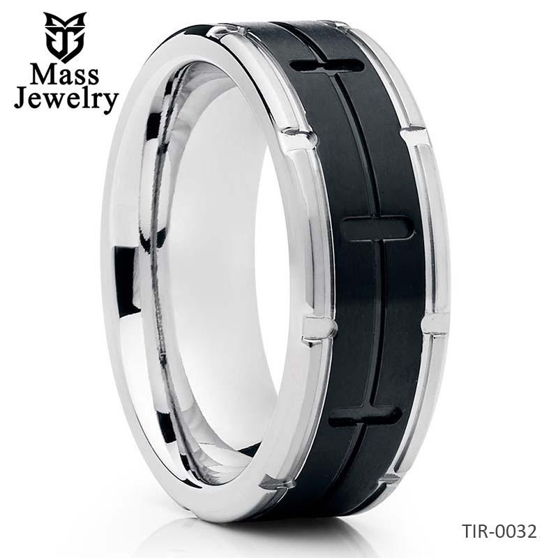 Black Titanium Ring Titanium Wedding Band Men's Wedding Band 8mm
