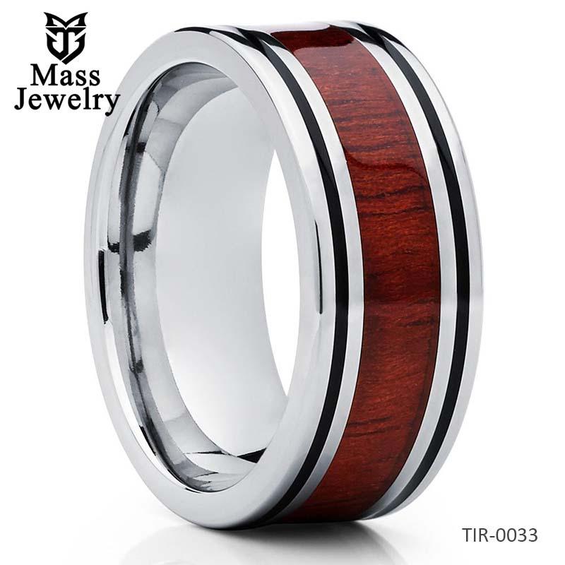 Koa Wood Wedding Band Titanium Koa Wood Ring Titanium Wedding Band