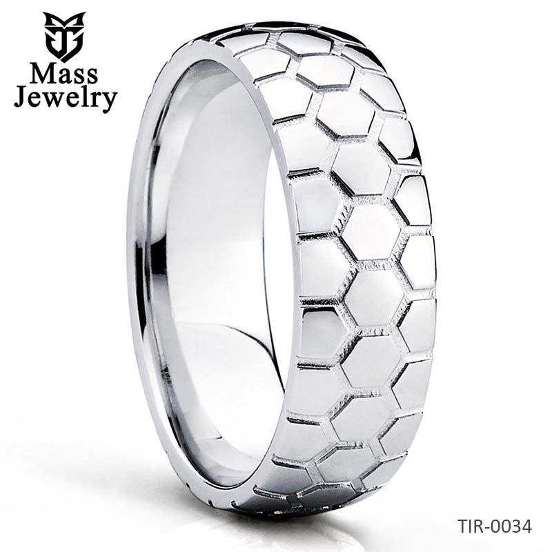 Titanium Wedding Ring Soccer Wedding Band Titanium Wedding Band