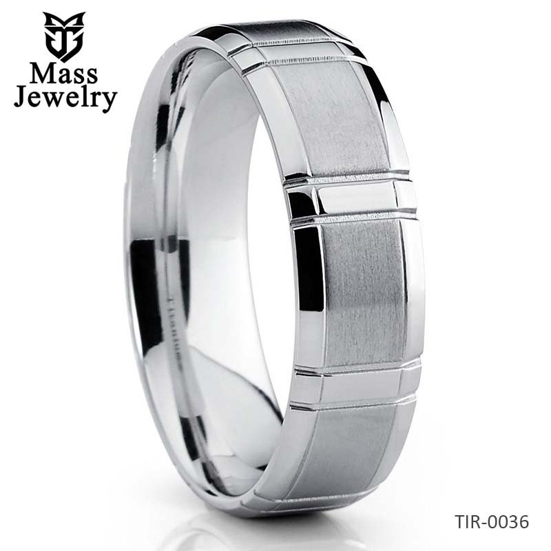 Titanium Wedding Band Silver Titanium Ring Titanium Wedding Ring