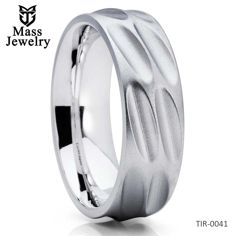 Men's Wedding Band Titanium Wedding Ring Titanium Wedding Band