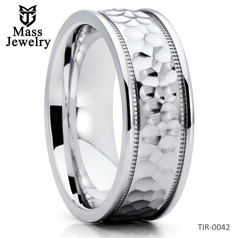 Titanium Wedding Band Hammered Ring Titanium Wedding Ring Handmade