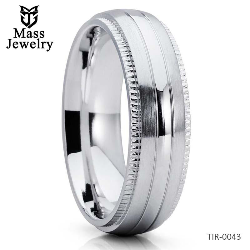 Titanium Wedding Band Unique Wedding Ring Men's Wedding Band Ring