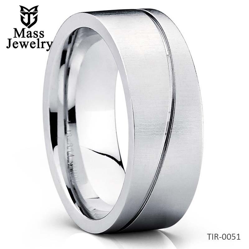 8mm Titanium Wedding Band Titanium Wedding Ring Men's & Women
