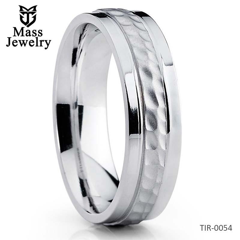 Titanium Wedding Band Titanium Wedding Ring Hammered Titanium Ring